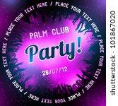 pink party flyer vector template | Shutterstock .eps vector #101867020