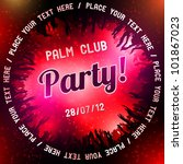 red party flyer vector template | Shutterstock .eps vector #101867023