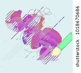 abstract vector background dot... | Shutterstock .eps vector #1018670686