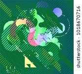 abstract vector background dot... | Shutterstock .eps vector #1018670716