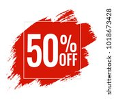 red blobs sale banner  vector...   Shutterstock .eps vector #1018673428