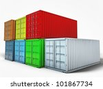 containers isolated on white background - stock photo