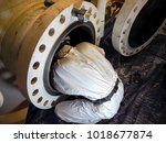 working with confined space | Shutterstock . vector #1018677874