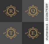 luxury logo template in vector... | Shutterstock .eps vector #1018679389