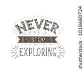 vector hand lettering quote of...   Shutterstock .eps vector #1018680724