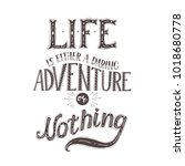 vector hand lettering quote of... | Shutterstock .eps vector #1018680778