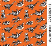 seamless pattern with cute... | Shutterstock .eps vector #1018683646