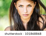 portrait close up of young... | Shutterstock . vector #101868868