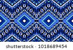 indian embroidery. geometric... | Shutterstock .eps vector #1018689454