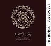 golden vector logotype. eastern ... | Shutterstock .eps vector #1018691134