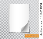 a4 paper with shadow design... | Shutterstock .eps vector #1018691368