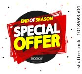 special offer  sale tag  banner ... | Shutterstock .eps vector #1018693504