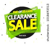 clearance sale  banner design... | Shutterstock .eps vector #1018693513