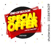 special offer  sale tag  banner ... | Shutterstock .eps vector #1018693639