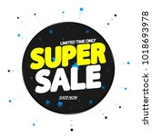 super sale  banner design... | Shutterstock .eps vector #1018693978