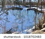minnehaha falls waterfall... | Shutterstock . vector #1018702483