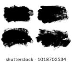 painted grunge stripes set.... | Shutterstock .eps vector #1018702534