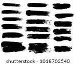 painted grunge stripes set.... | Shutterstock .eps vector #1018702540