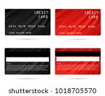 modern credit card  business... | Shutterstock .eps vector #1018705570