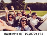 ladies and guy driver  chics...   Shutterstock . vector #1018706698