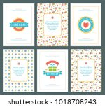 happy birthday greeting cards... | Shutterstock .eps vector #1018708243