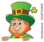 lurking leprechaun topic image...   Shutterstock .eps vector #1018714969