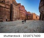 petra street of facades  jordan | Shutterstock . vector #1018717600