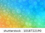 light blue  yellow vector... | Shutterstock .eps vector #1018722190