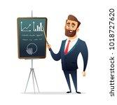 successful beard businessman... | Shutterstock .eps vector #1018727620