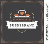 sushi restaurant logo vector...   Shutterstock .eps vector #1018728124