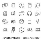 simple collection of translate... | Shutterstock .eps vector #1018733209