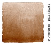 brown  coffee watercolor... | Shutterstock . vector #1018736368