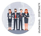 group of business people. team... | Shutterstock .eps vector #1018736674