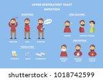 upper respiratory tract... | Shutterstock . vector #1018742599