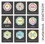 geometric logo shapes. vector... | Shutterstock .eps vector #1018743154