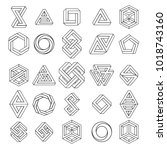 graphic impossible shapes.... | Shutterstock .eps vector #1018743160