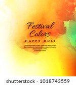 happy holi festival celebration ... | Shutterstock .eps vector #1018743559