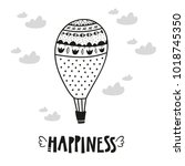 aerostat balloon poster for...   Shutterstock .eps vector #1018745350