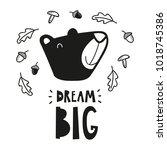 bear head poster for baby room  ...   Shutterstock .eps vector #1018745386