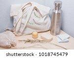 zero waste starter kit | Shutterstock . vector #1018745479
