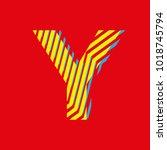 letter y  capital letter for... | Shutterstock .eps vector #1018745794