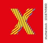 letter x  logo capital letter... | Shutterstock .eps vector #1018745800