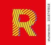 letter r  capital letter for... | Shutterstock .eps vector #1018745818