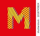 letter m  capital letter for... | Shutterstock .eps vector #1018745824