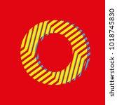 letter o  capital letter for... | Shutterstock .eps vector #1018745830