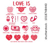 love is   definition of love in ... | Shutterstock .eps vector #1018748440