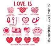 love is   definition of love in ... | Shutterstock .eps vector #1018748440