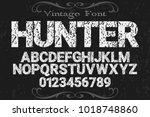 vintage font typeface... | Shutterstock .eps vector #1018748860