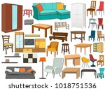 vector  isolated set of... | Shutterstock .eps vector #1018751536