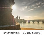 bridge in prague | Shutterstock . vector #1018752598